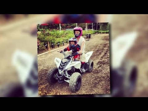 Britney Spears Rides a Quad Bike on Son Jayden's Birthday - Splash News