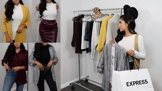 Fall Try On Haul Stylish Work Outfits ft  Express