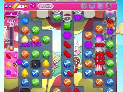 candy crush saga 2703 no boosters! youtube