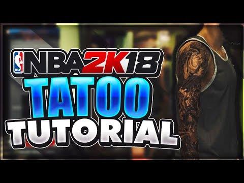 NBA 2K18 ADVANCED TATTOO TUTORIAL   MAKE PERFECT ARM SLEEVES