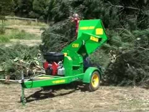 Red Roo: C100 chipper mulcher shredder in ACTION!