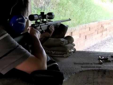 Savage MKII .22mag. 200m. gun + target cam. nice bullet swirl