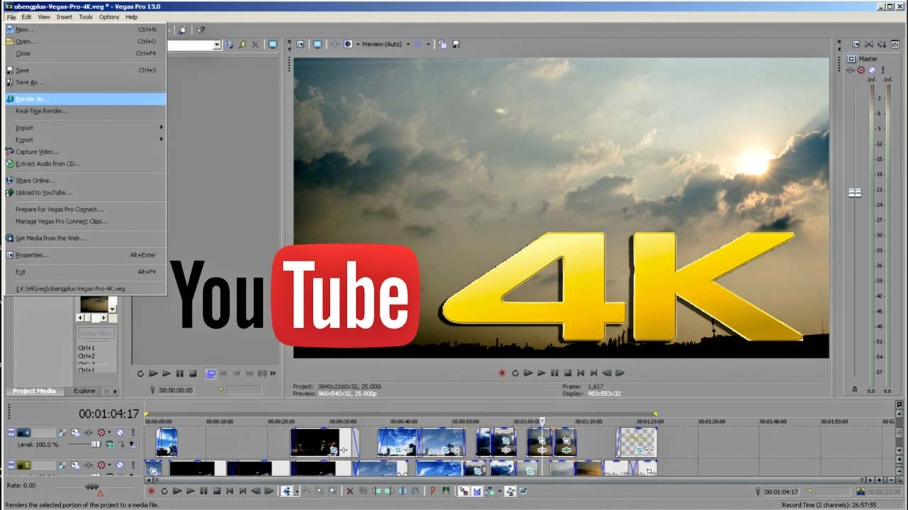 how to change video resolution sony vegas pro 13