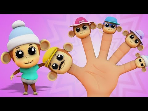 Monyet Jari Keluarga | 3D Anak-anak Sajak | Monkey Finger Family |v Farmees Indonesia | Lagu Anak