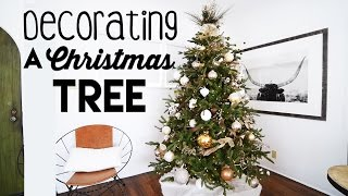 RUSTIC GLAM CHRISTMAS TREE Decorating for Small Apartments | Steps to Tree Decorating