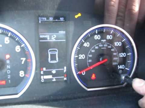 2007 Honda Crv Resetting The Oil Life Youtube