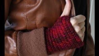 ♥ How To Crochet Fingerless Gloves / Wristers ♥