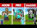 Minecraft NOOB Vs PRO Vs HACKER: STATUE HOUSE BUILD CHALLENGE In Minecraft  Animation