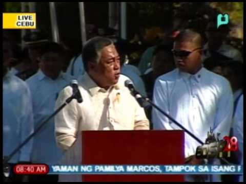 [Part 4/] EDSA 28 - Speech of Cebu Gov. Davide; 28th Anniv. of EDSA People Power Rev. [02/25/14]