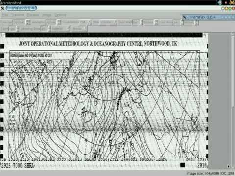 Receiving WEFAX with HAMFAX and GNU/Linux