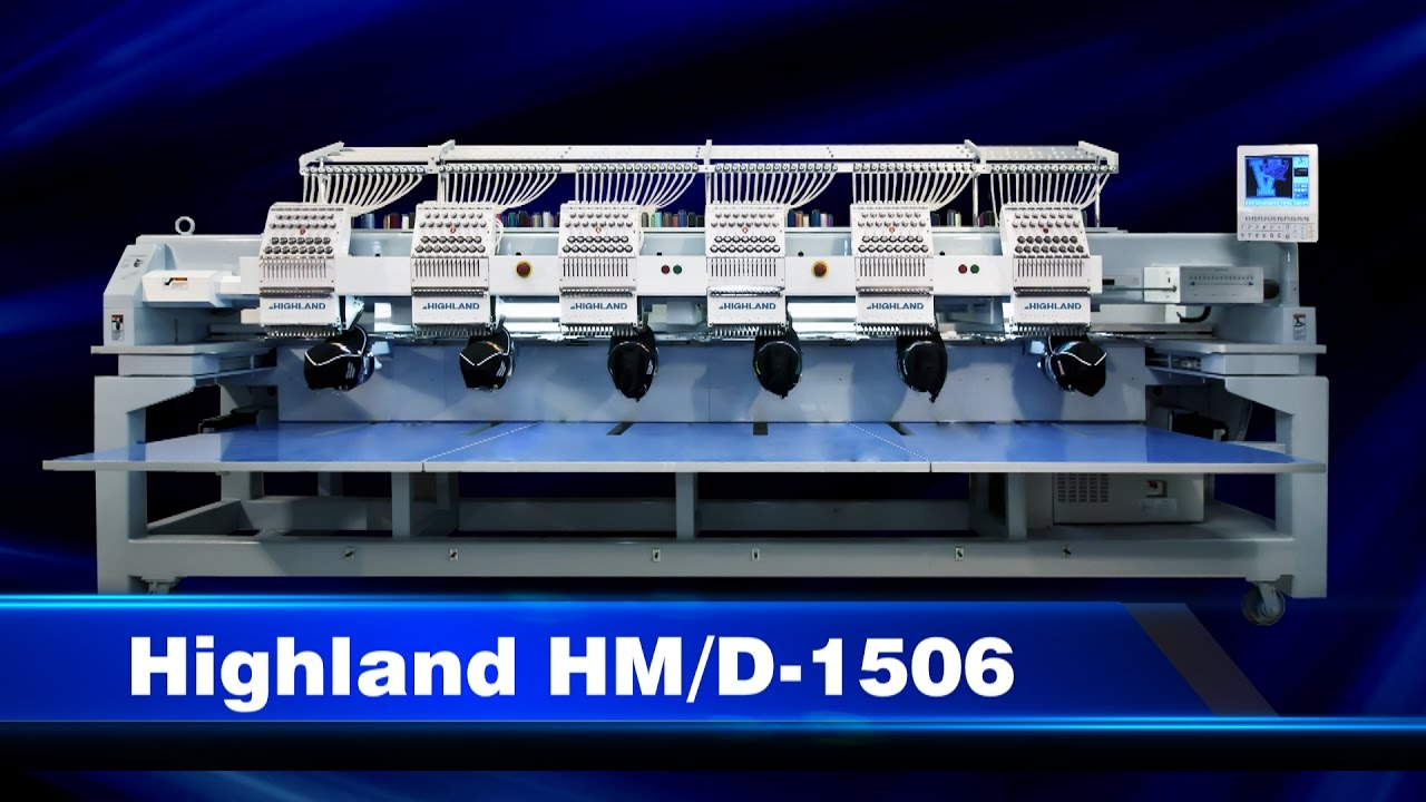 Highland Multihead Embroidery Machine Video