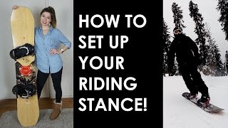 DIY SNOWBOARD STANCE SET UP | ANGLE, WIDTH, SETBACK AND MORE!