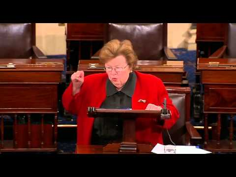 "Barbara Mikulski Loses It After Failure To Pass Paycheck Fairness Act, ""I Get Volcanic!"""