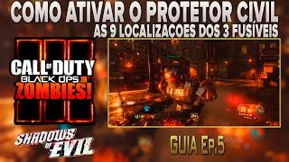 COD-BO3-Zombies- Shadows of evil - Easter egg - Protetor Civil - Como ativar (Bem explicado)