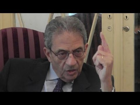 Interview with Amr Moussa - presidential frontrunner لقاء مع عمرو موسى