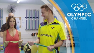 Can Susana Yabar Keep Up with Hugo Calderano's Table Tennis Workout | Hitting the Wall