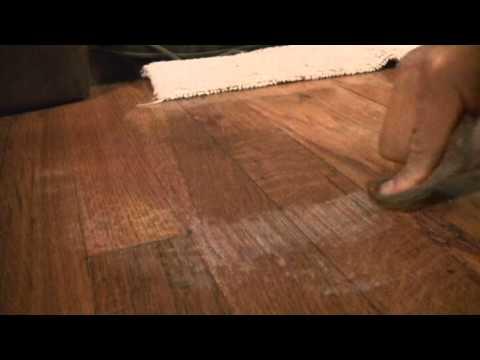 remove alcohol damage stain on hardwood floors youtube