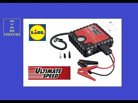 UltimateSpeed Power Bank With Compressor UPK 10 A1 UNBOXING (Lidl 10bar Li-ion 14000 mAh 12V 2A)