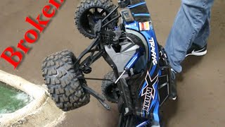 Breaking the Traxxas X-MAXX at the RC Race Track - Unintentional Flip Break