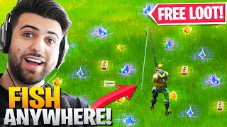 New Trick Let's You FISH Anywhere! (FREE LOOT!) - Fortnite Battle Royale Chapter 2