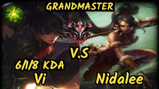 MADL Samux (VI) vs NIDALEE - 6/1/8 KDA JUNGLE GAMEPLAY - EUW Ranked GRANDMASTER