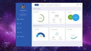 C#, VB.net, VC++.net - Cool Blue Modern Dashboard - Bunifu UI 現代設計用戶界面