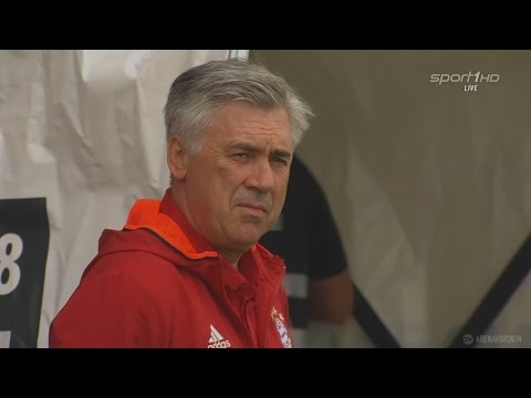 Carlo Ancelotti - First Match with Bayern München vs Lippstadt 4-3 (16/07/2016) HD