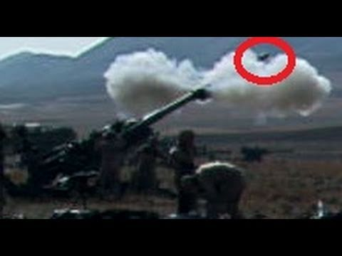 More combat footage not on YouTube at FUNKER530.com - http://vid.io/xGB Artillery round could be seen flying through the air.