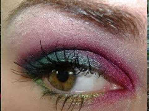 HOT COCKTAIL EYES w/ Teal and bright fuchsia MAC makeup Video