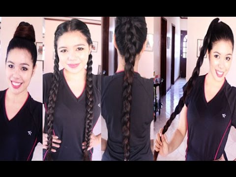 My Go to Gym 2nd and 3rd day Hairstyles- Beautyklove