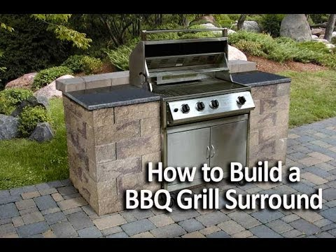how to build a bbq grilling station or grill surround. Black Bedroom Furniture Sets. Home Design Ideas