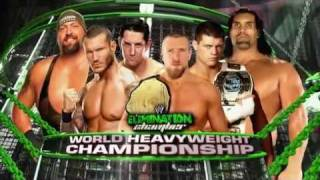 WWE 2012 (SmackDown) Elimination Chamber Card