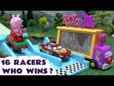 Disney Pixar Cars Neon Racers Race Thomas and Friends Peppa Pig Play Doh Spider-Man