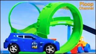 Bussy & Speedy SEASIDE RACE TRACK - Bburago Toy Cars for Children.Stories for Kids