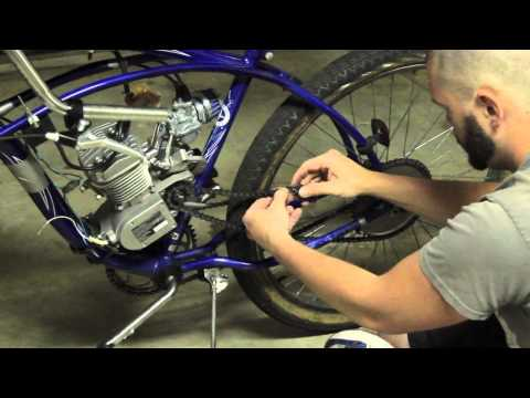 How to Put An Engine Kit On A Beach Cruiser Part 5 (Chain & Tensioner)
