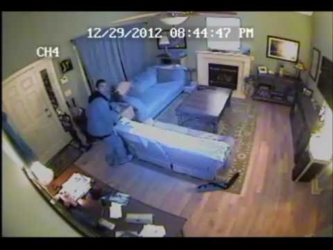 Real Home Surveillance Video of Forcible Home Entry and Burglary - Raleigh, NC 12/29/2012