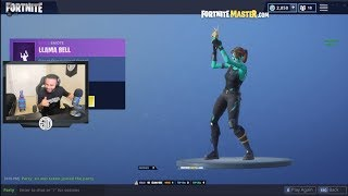 HAMLINZ & TFUE REACT TO *NEW* LLAMA BELL EMOTE!! Fortnite FUNNY & EPIC Moments