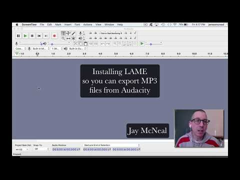 Tutorial - Installing LAME MP3 Encoder to export audio files from Audacity 2018