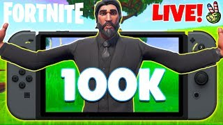 Pro Nintendo Switch Player! // CALLING ALL AMIGOS SO CLOSE 100K!!! // (Fortnite Battle Royale LIVE)