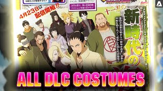 ALL DLC Costumes! Naruto STORM 4 Road to Boruto Next Generations Pack