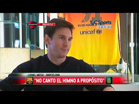 "Lionel Messi: ""No canto el himno a propósito"" - TyC Sports"