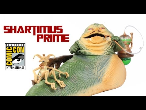 Star Wars Jabba the Hutt SDCC 2014 with Throne Room Toy Exclusive Action Figure Review