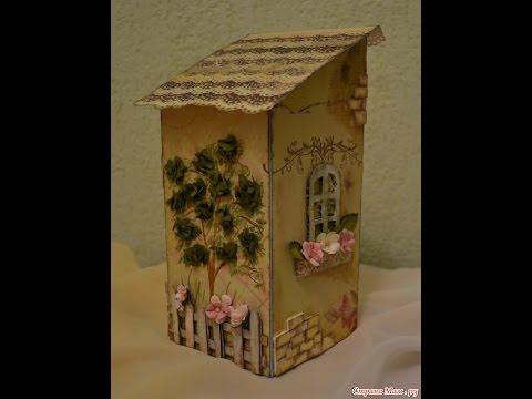 Чайный домик мастер класс из картона фото
