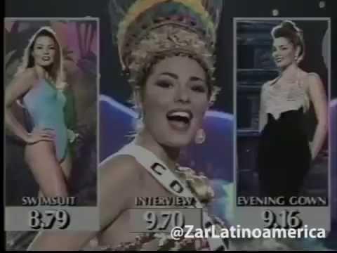 Paula Andrea Betancourt full performance MISS UNIVERSE 1993