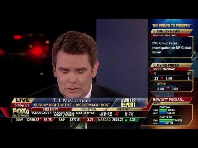 Carol Roth Willis Report Fox Business on Corzine Cigarette Legislation