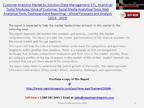 Forecasts Customer Analytics Market (Web Analytical Tools, Dashboard) by 2019