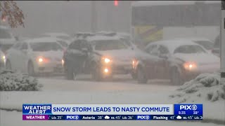 Snowstorm leads to nasty traffic, transit commute