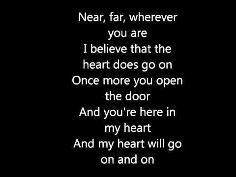 My heart will go on- celine dion (testo)