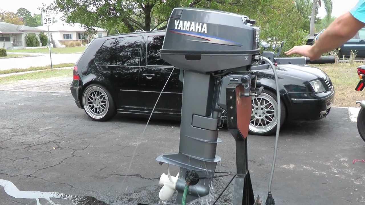 Yamaha 25hp longshaft tiller outboard motor 2 stroke youtube for Yamaha 25hp 2 stroke outboard