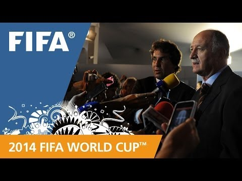 Brazil Luiz Felipe SCOLARI Final Draw reaction (Portuguese)
